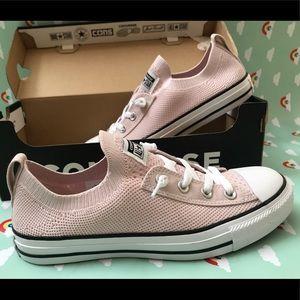 Light pink slip on converse